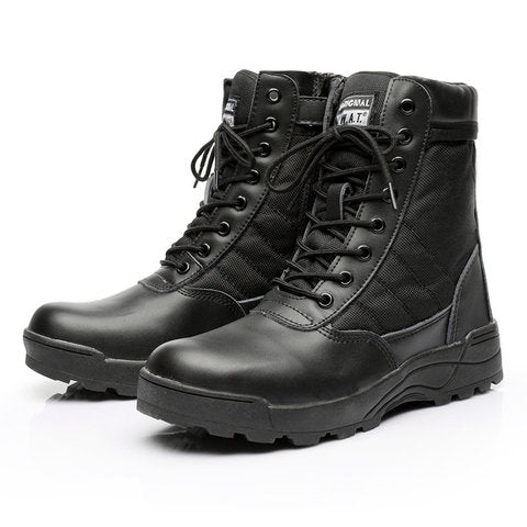 Wearable High Top Oxford Outdoor Lace-up Army boots