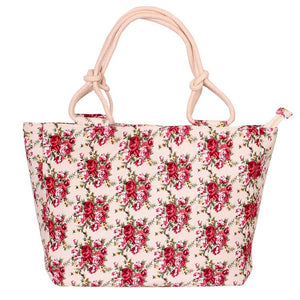 Casual Canvas Printed Shoulder Bag Handbag