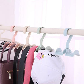 Rotated Storage Rack Bag Hanger Plastic Clothes Wardrobe Organizer