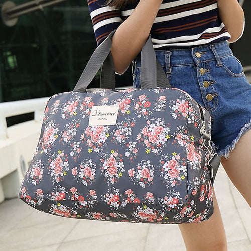 Women Floral Luggage Bag Travel Must-have Storage Bag
