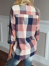 Cotton Casual Shirt Collar Gingham Long Sleeve Shirts