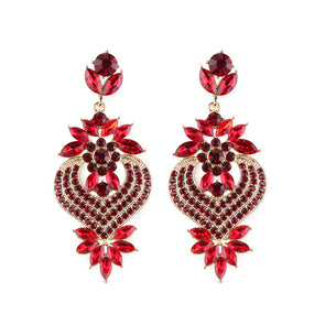 Fashion Alloy Diamond Earrings