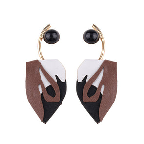Fashion Leather Symmetric Earrings