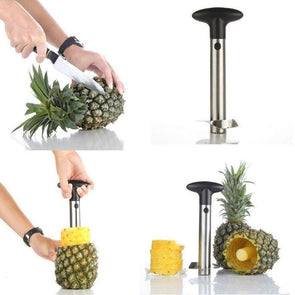 Stainless Steel Pineapple Peeler Cutter Slicer Corer Peel Core Tools Fruit Vegetable Knife Gadget