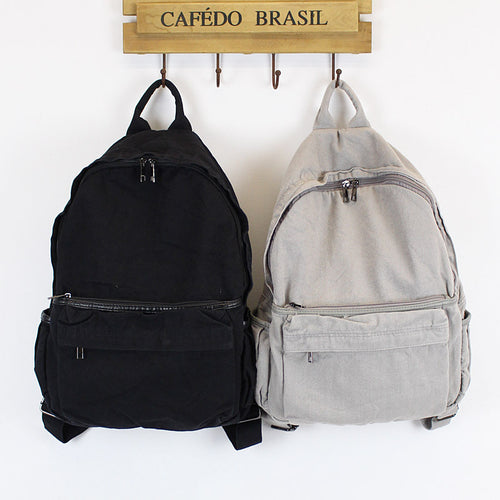 Canvas Men and Women Simple Leisure Backpack