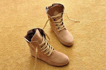 Comfortable Lace-up Flat All Seasons Boots