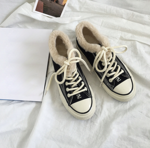 Womens Casual Canvas Chic Warm Sneakers