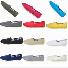 Breathable Canvas Shoes Multi-color Casual Large Size(36-45) Flat Loafers
