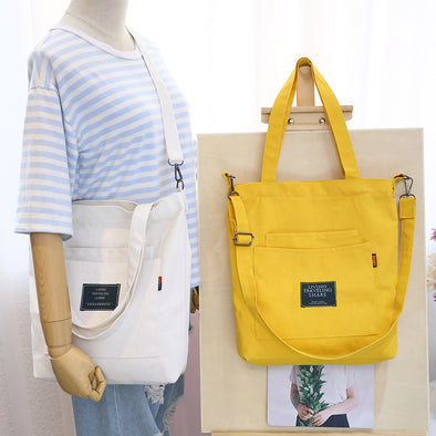 Removable shoulder strap Canvas Shoulder Bag Tote Bag