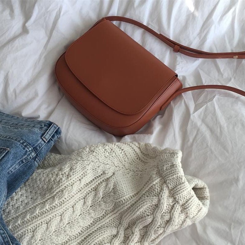 2018 New PU ins Crossbody Retro Shoulder Bag