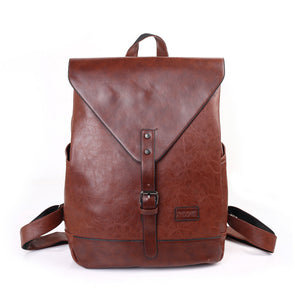 Fashion Vintage PU Leather Women Men Backpacks