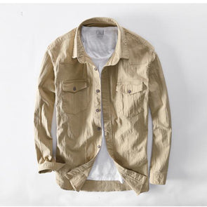 Casual Corduroy Shirt Long Sleeve Jacket