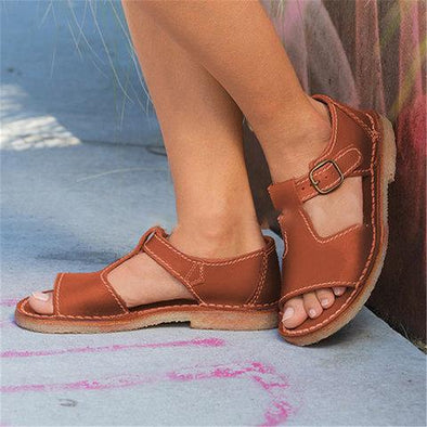 Women Vintage Adjustable Buckle Sandals