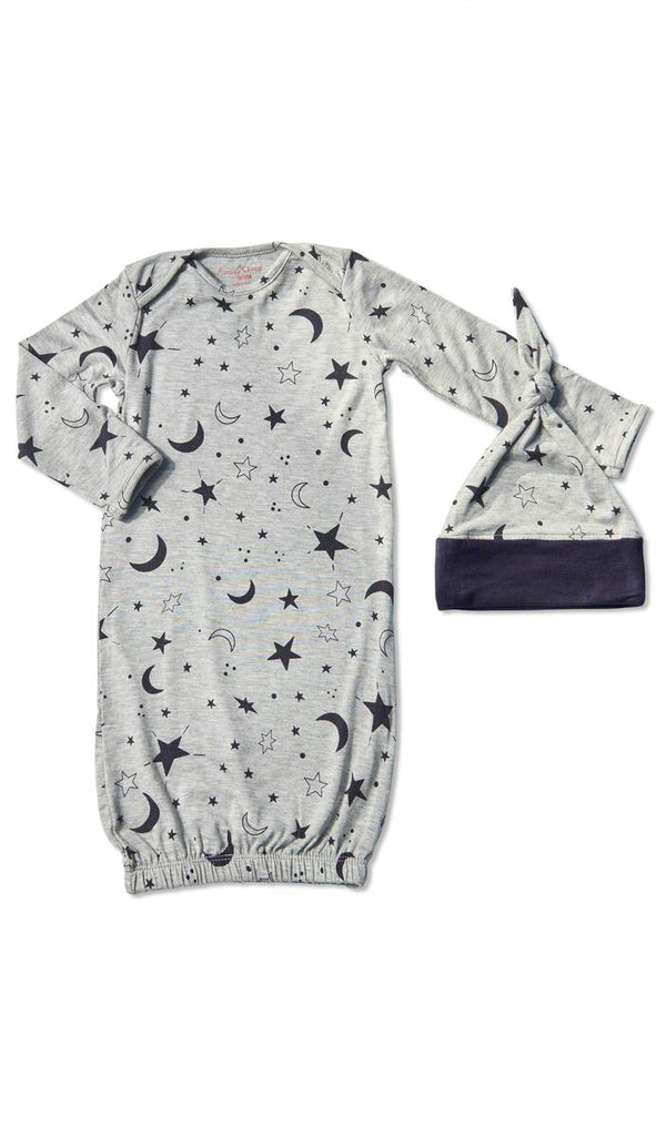 Gown Set in Twinkle Night  - Doodlebug's Children's Boutique