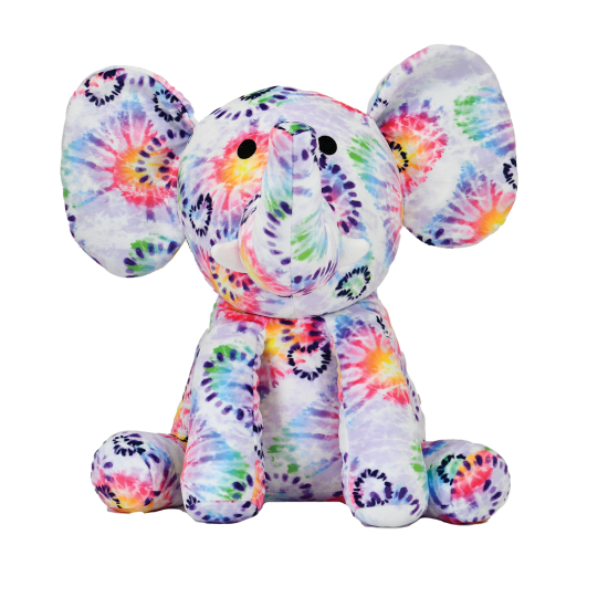 Heart Tie Dye Elephant  - Doodlebug's Children's Boutique