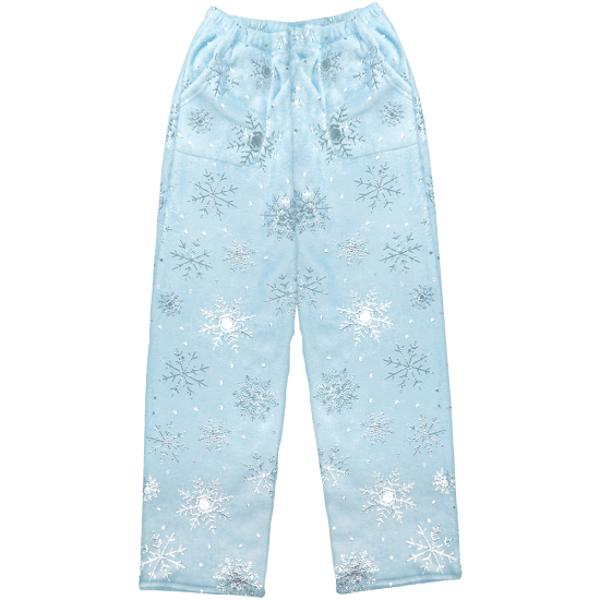 Snowflakes Plush Pants  - Doodlebug's Children's Boutique