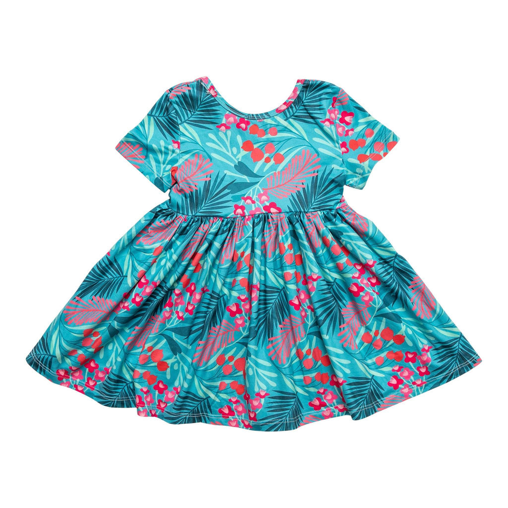 Totally Tropical Short Sleeve Twirl Dress  - Doodlebug's Children's Boutique