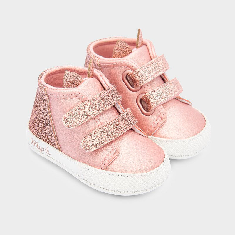 Blush Sparkly Sneakers  - Doodlebug's Children's Boutique