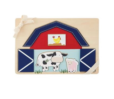 Farmhouse Barn Puzzle  - Doodlebug's Children's Boutique