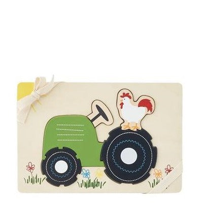 Farmhouse Tractor Puzzle  - Doodlebug's Children's Boutique