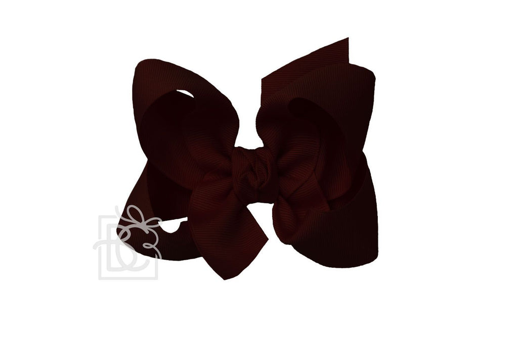 Large Bow in Burgundy  - Doodlebug's Children's Boutique