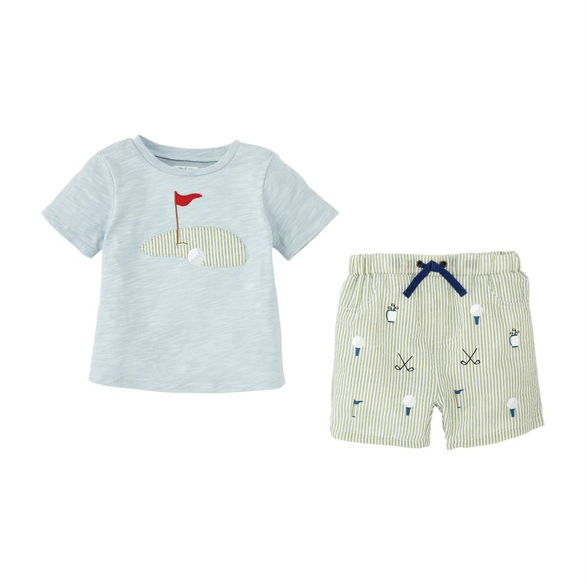 Golf Short Set  - Doodlebug's Children's Boutique