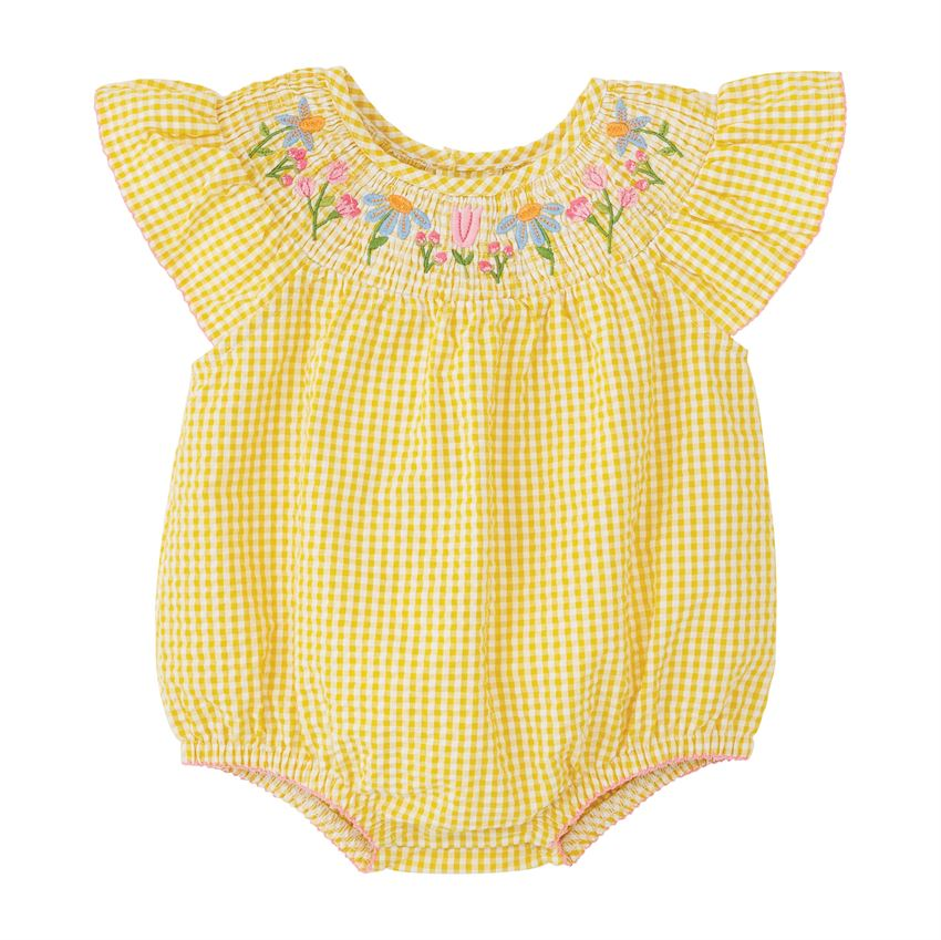 Farmhouse Smocked Bubble  - Doodlebug's Children's Boutique