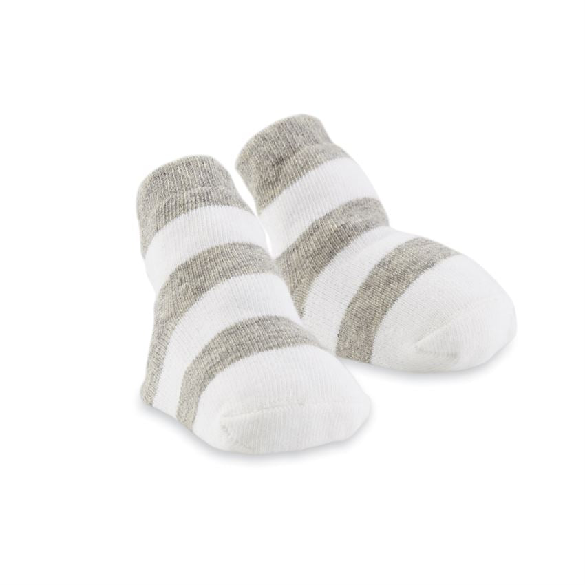 Gray Thick Stripe Socks  - Doodlebug's Children's Boutique