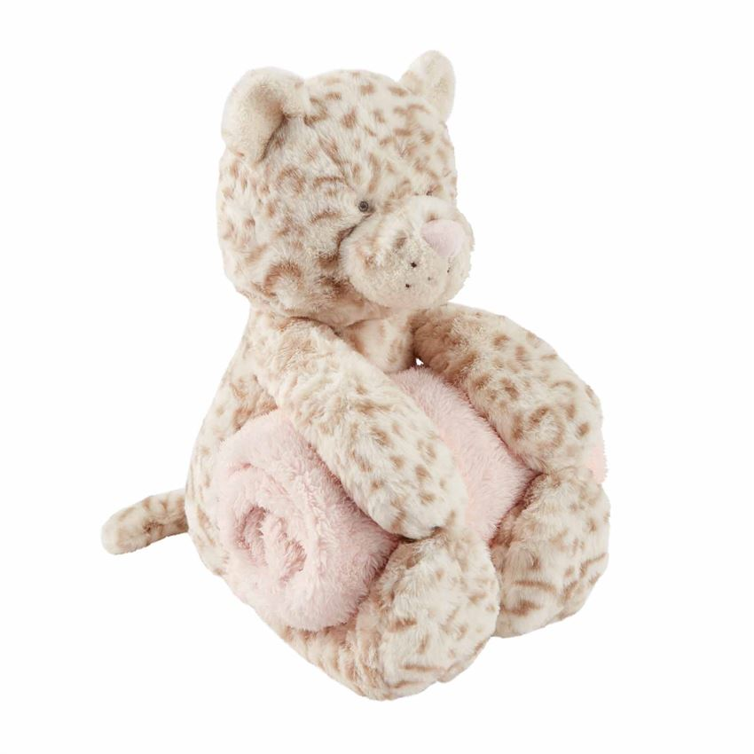 Leopard Plush Toy with Blanket  - Doodlebug's Children's Boutique