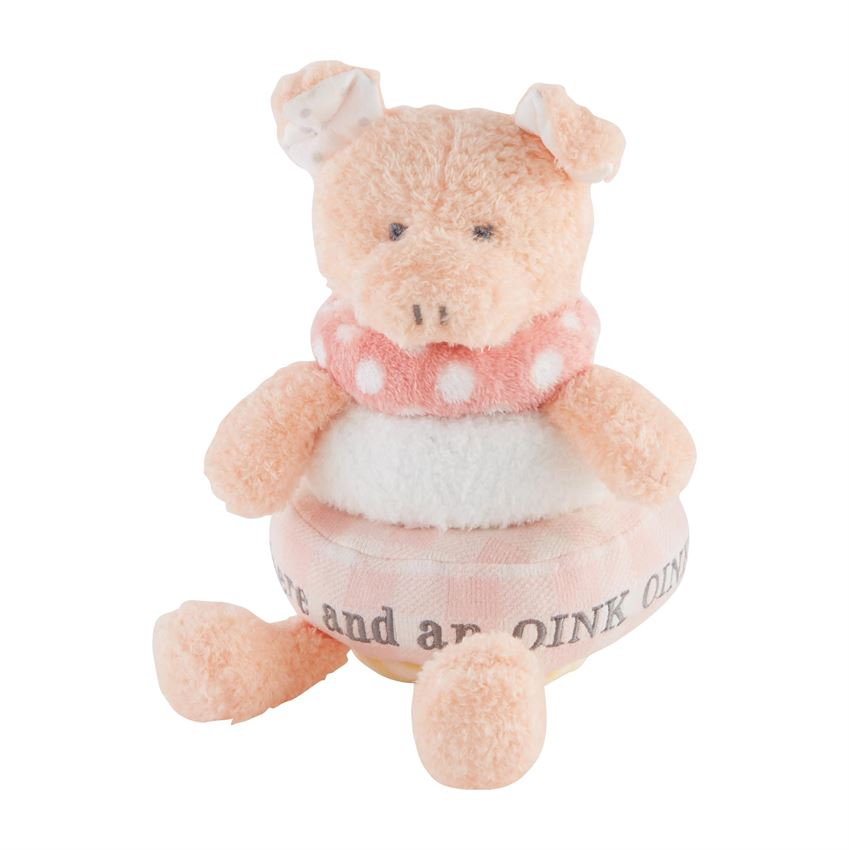 Stackable Plush Pig  - Doodlebug's Children's Boutique