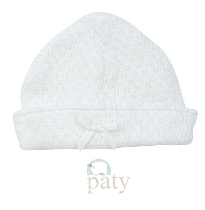 White Sailor Cap With Bow - Doodlebug's Children's Boutique