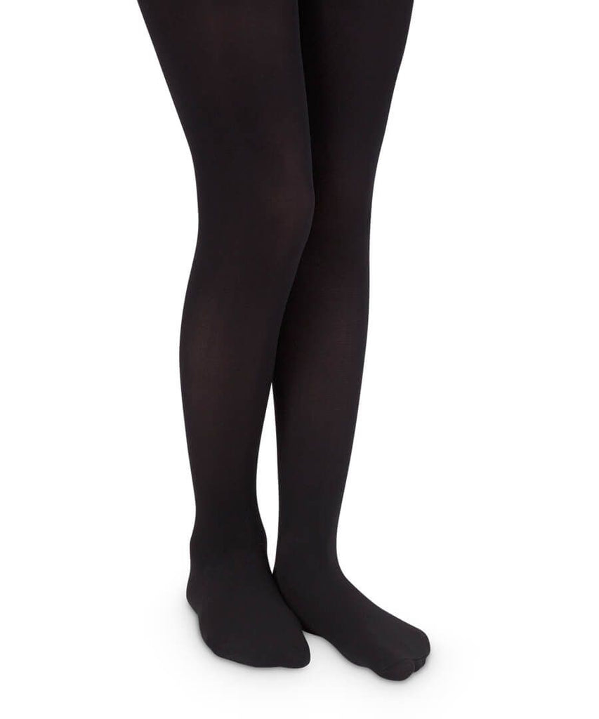 Smooth Toe Organic Cotton Tights in Black  - Doodlebug's Children's Boutique