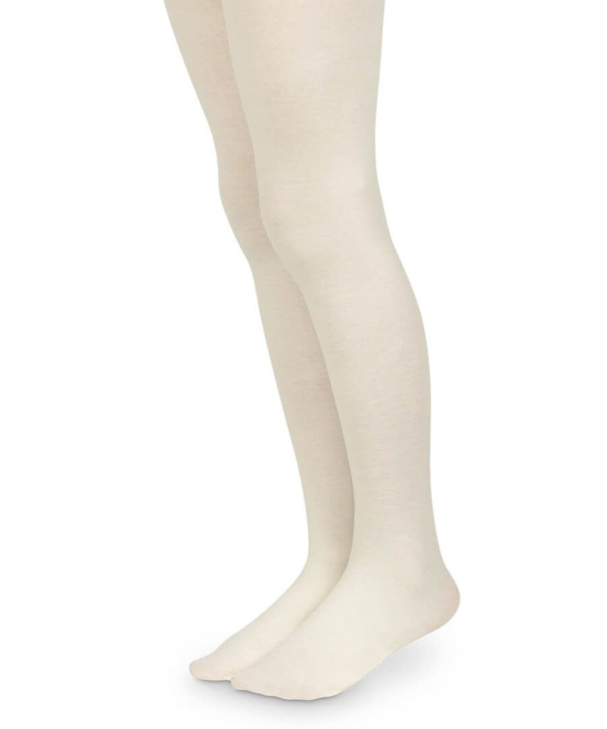 Smooth Toe Organic Cotton Tights in Ivory  - Doodlebug's Children's Boutique