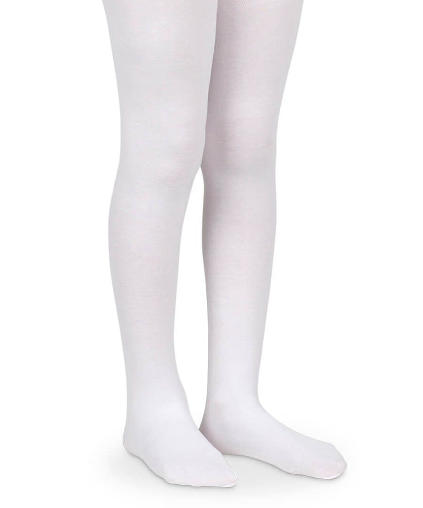 Smooth Toe Organic Cotton Tights in White  - Doodlebug's Children's Boutique