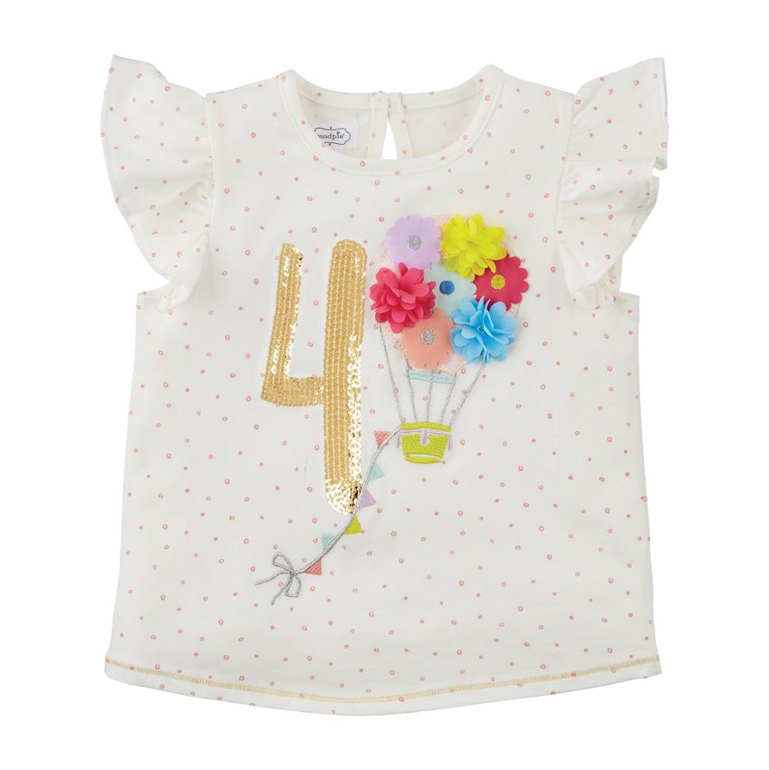Four Birthday Shirt  - Doodlebug's Children's Boutique
