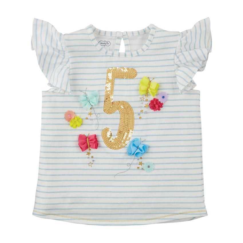 Five Birthday Shirt  - Doodlebug's Children's Boutique