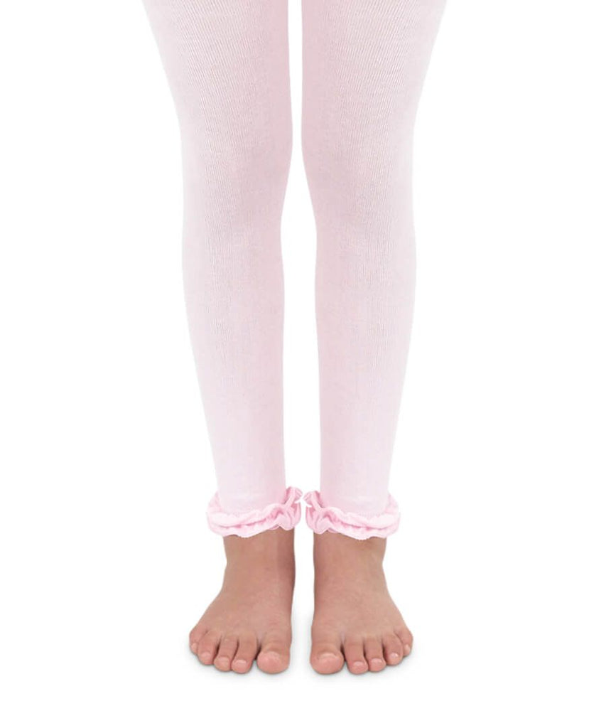 Footless Ruffle Tights in Light Pink  - Doodlebug's Children's Boutique