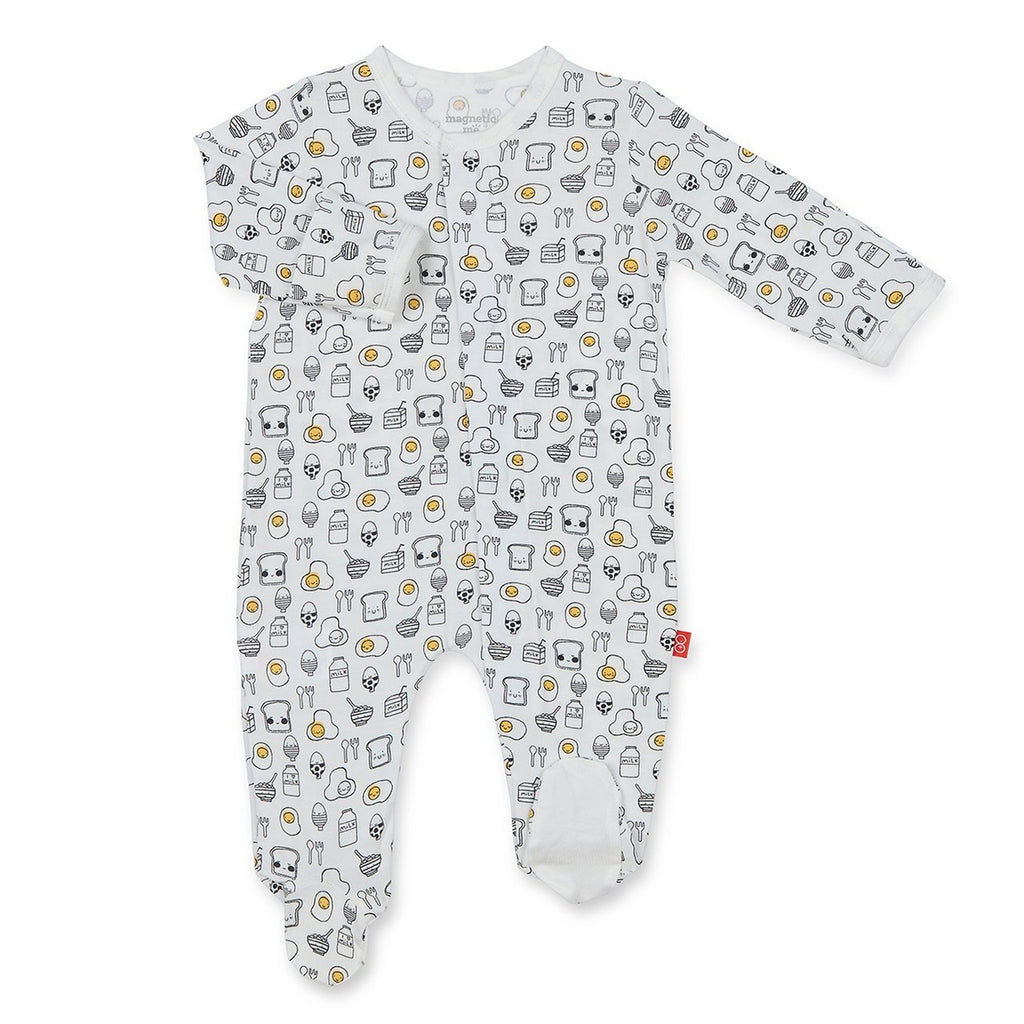 Breakfast Club Magnetic Modal Footie  - Doodlebug's Children's Boutique