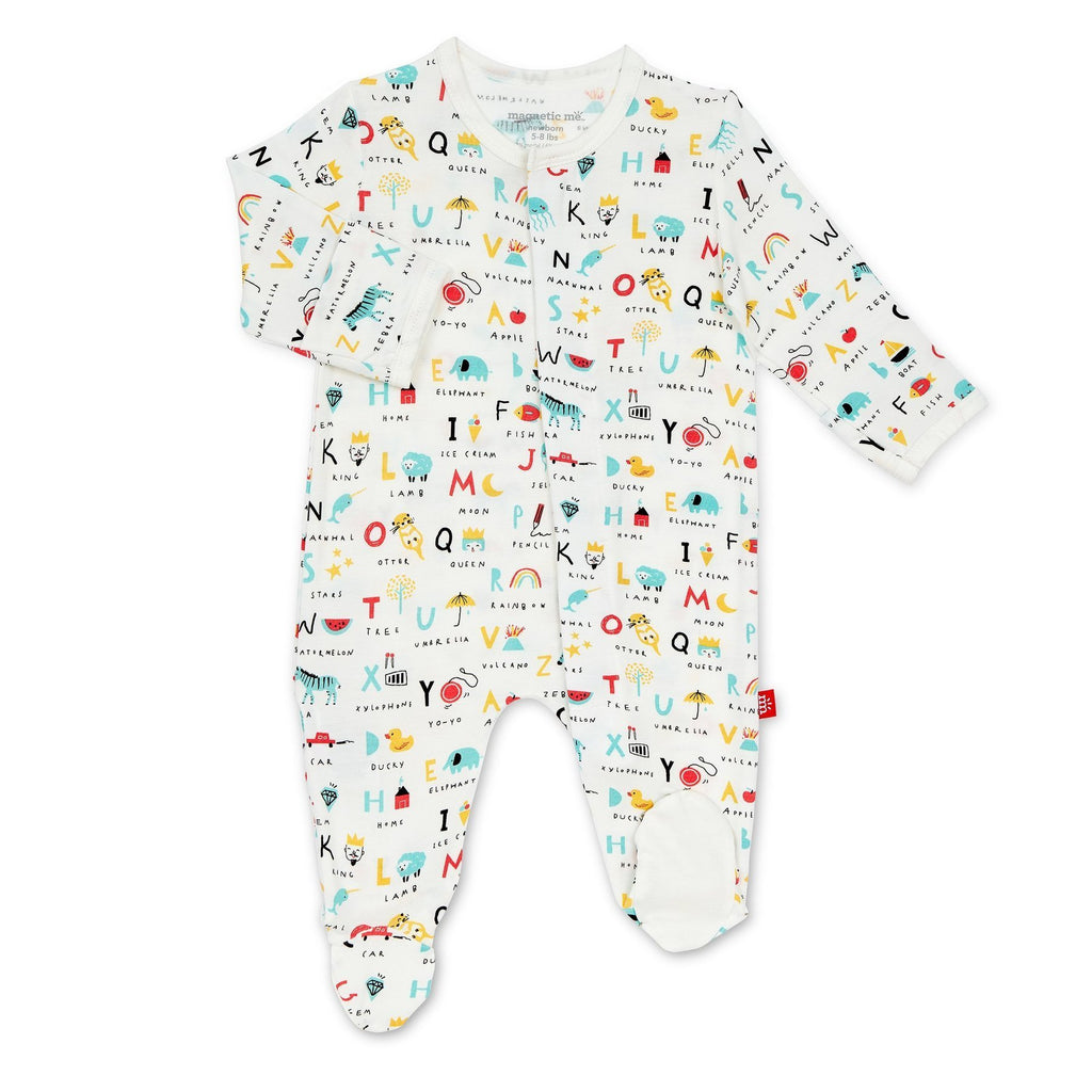 ABC Love Magnetic Footie  - Doodlebug's Children's Boutique