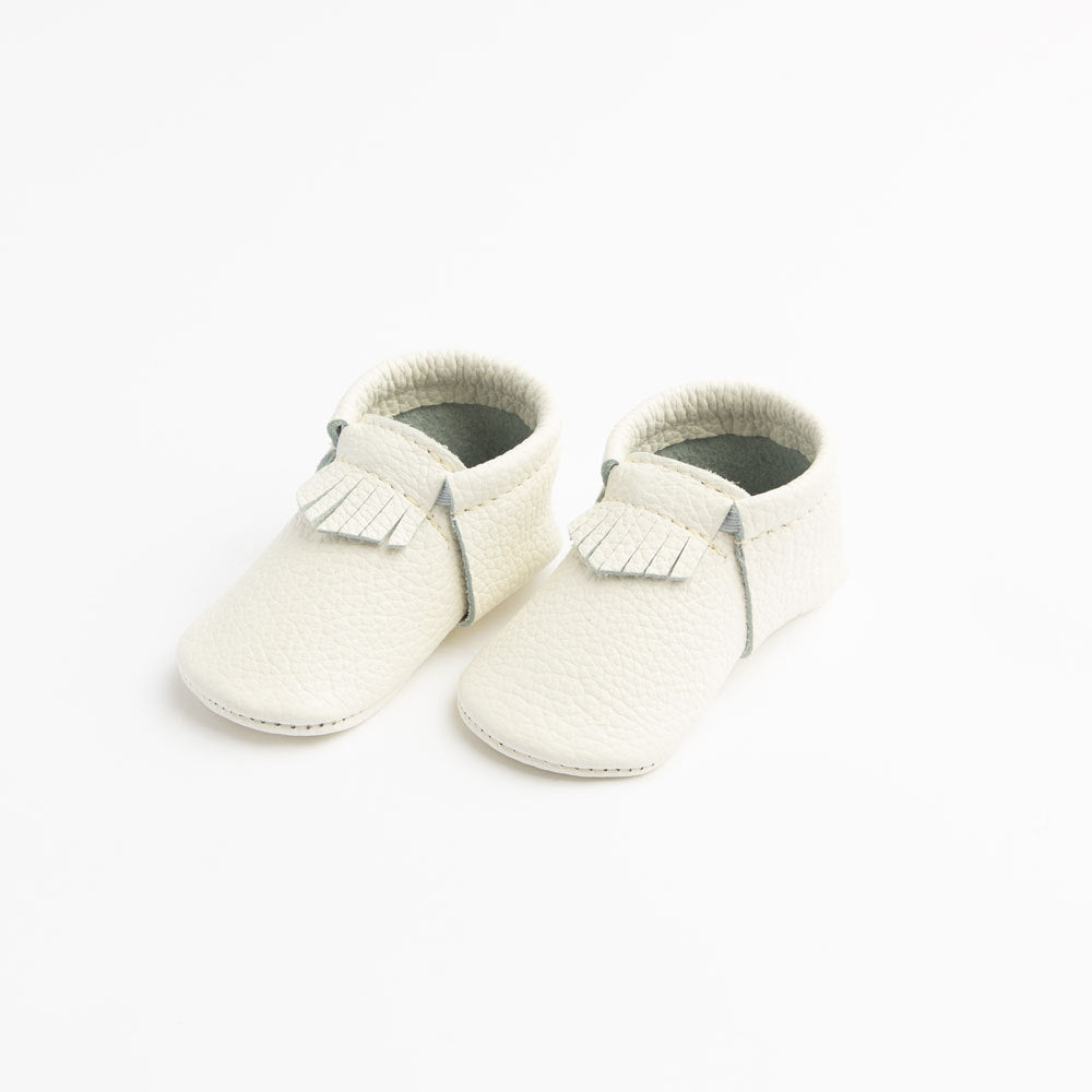 The First Pair City Mocc in Blanc  - Doodlebug's Children's Boutique