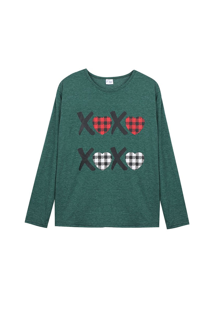 Green XOXO Tee Adult  - Doodlebug's Children's Boutique