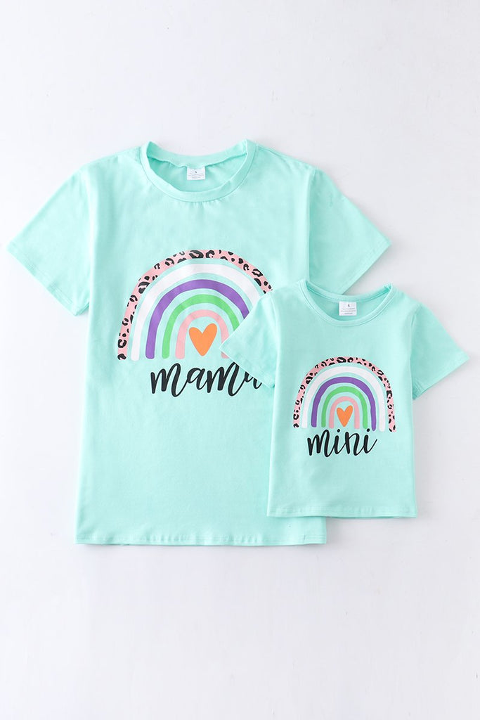 Mint Rainbow Mama Tee  - Doodlebug's Children's Boutique