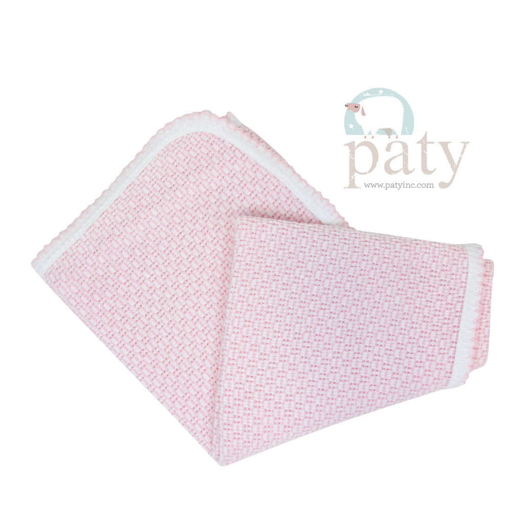 Pink Stripe Receiving Blanket  - Doodlebug's Children's Boutique