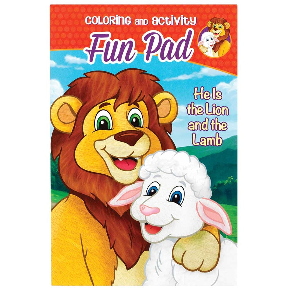 He is the Lion and the Lamb Coloring Fun Pad  - Doodlebug's Children's Boutique