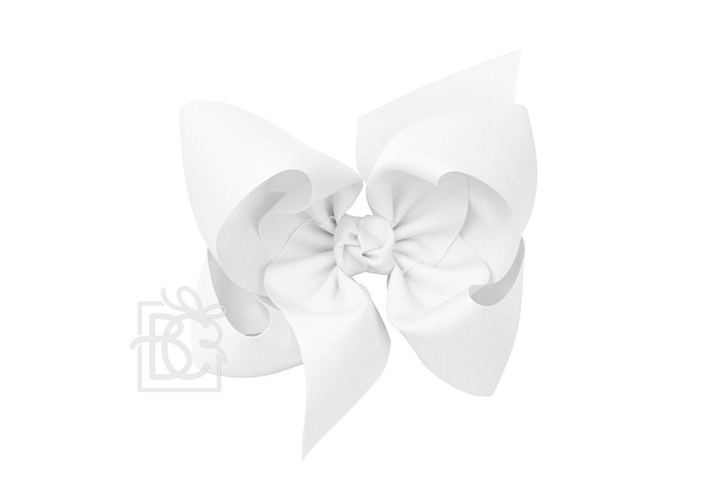 Texas Sized Bow in White  - Doodlebug's Children's Boutique