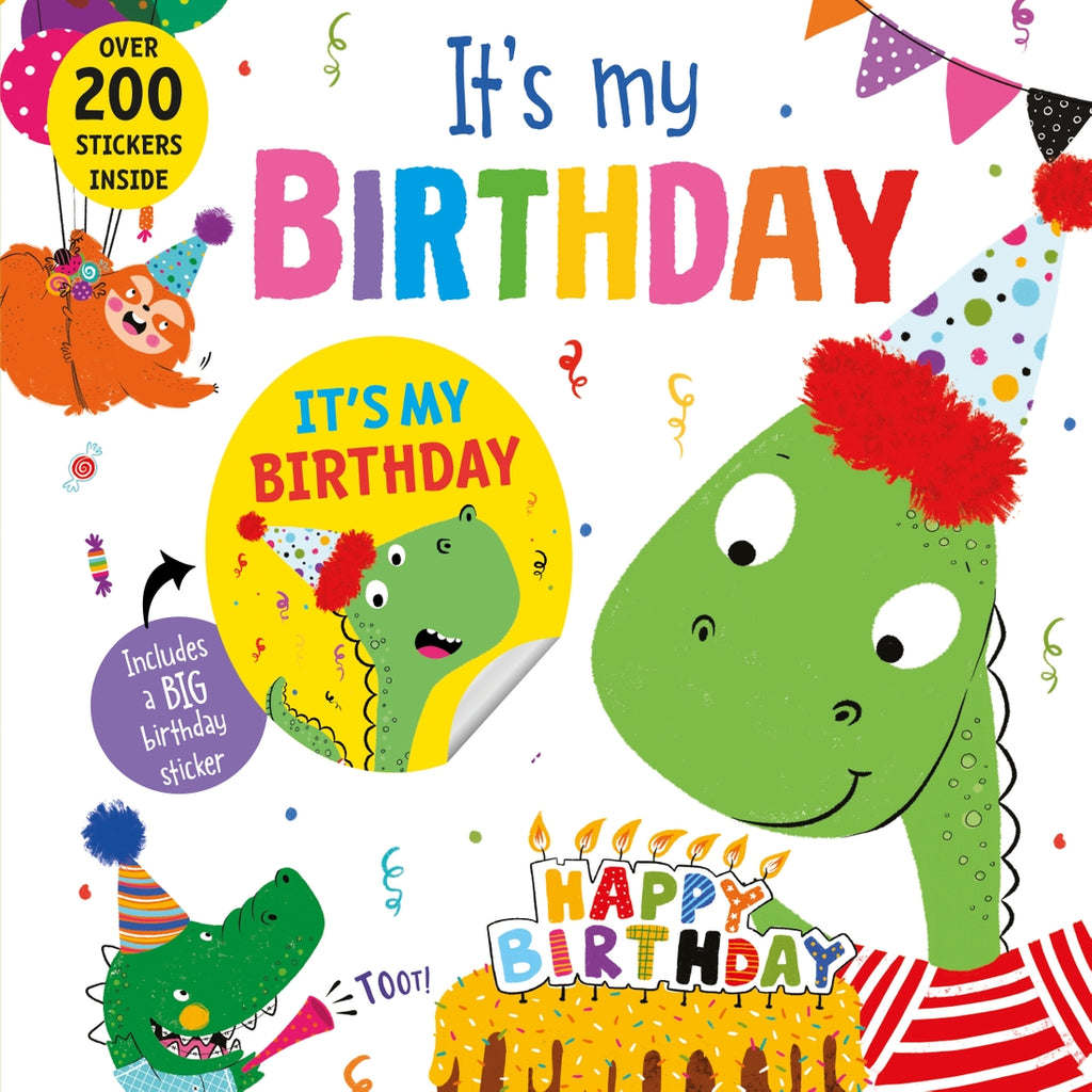 Its My Birthday Dinosaur Book  - Doodlebug's Children's Boutique
