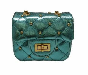 Doe A Dear Quilted with Gold Studs Purse