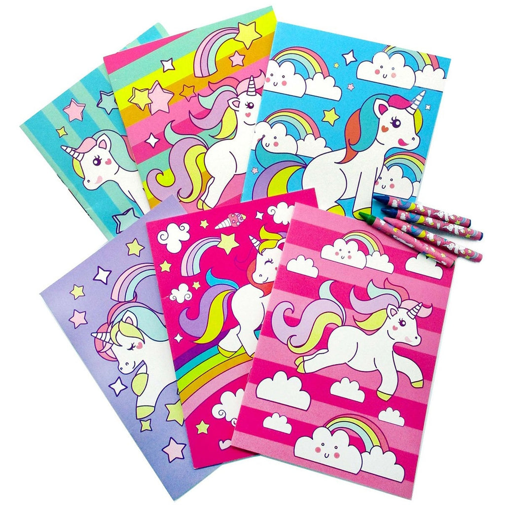 Unicorn Coloring Book with Crayons  - Doodlebug's Children's Boutique