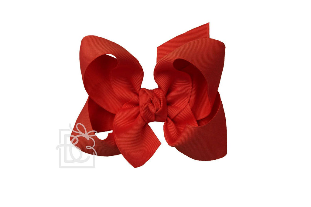 Large Bow in Red  - Doodlebug's Children's Boutique