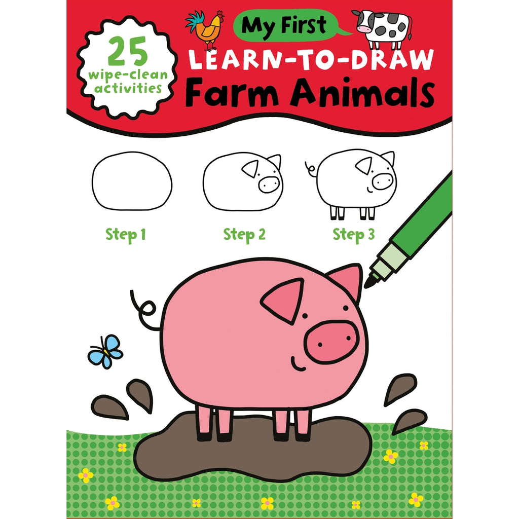 My First Learn to Draw Farm Animals Book  - Doodlebug's Children's Boutique
